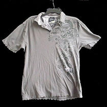 Junior Girls Grey Billabong Polo T Shirt Top Size M Medium 7 9  Free Ship Photo