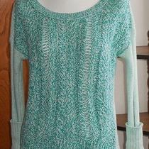 Junior or Woman's American Eagle Teal Green Cable Knit Sweater Xs  Photo