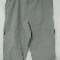 Juniors Aeropostale Gray Cotton Capri Pants S Photo