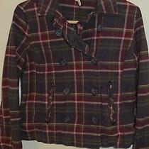 Junior's Aeropostale Stretch Plaid Blazer Jacket Top  / Large / Trendy & Unique Photo