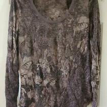Junior's Brown Long Sleeve Shirt by Vera Wang Size Xs Photo