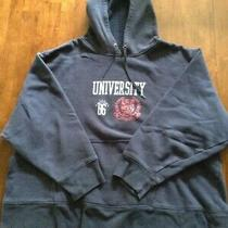 Junior's Bum Equipment Hooded Sweatshirt Size S Navy Photo