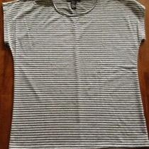 Junior's Forever 21 T-Shirt Size Xs Gray/white Striped Photo