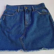 Junior's Roxy Icon Denim Skirt Medium Blue Extra Small Size Xs 62-22 Photo