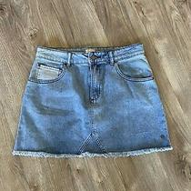 Junior's Roxy Icon Denim Skirt Medium Blue Size L Photo
