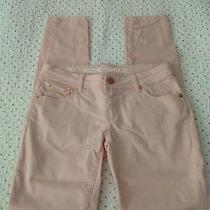 Junior's Sz 3 Jeggings Blush Pink Rose Gold Buttons Stretchy Photo