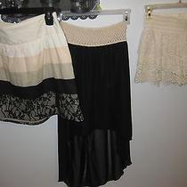 Junior Skirt Lot Stoosh Wet Seal Bella D Size Medium Black Blush Excellent Wore  Photo