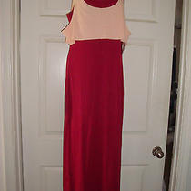 Junior Volcom Burgundy  My Favorite Maxi Sundress  Size Large  Nwt  Photo