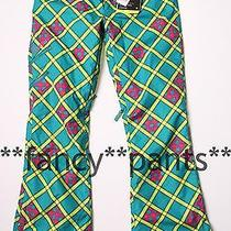 Juniors 200 Burton Shayla Prism Plaid Snowboarding Snow Snowboard Pants L Women Photo