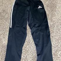 Juniors Adidas Black/white Warmup Pants Sz L Zipper Pickets and Legs  Photo