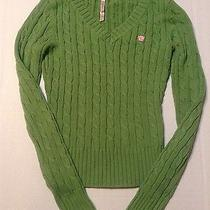 Juniors Aeropostale v-Neck Cable Knit Sweater Photo