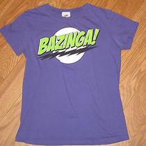 Juniors Big Bang Theory Bazinga T Shirt Purple Sheldon Comedy Tv Show Xl Photo