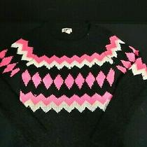 Juniors Black Pink and White Sweater From Arizona Jean Co. Size Small (S) Photo