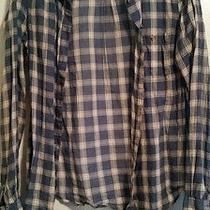 Juniors h&m Flannel Blue and White Colored Sz 12 Medium Free Shipping Photo