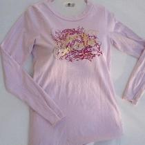 Juniors Juicy Couture Long Sleeve Pink Grapic Shirt Size Small Photo