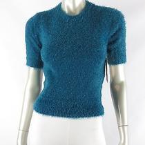 Juniors Keds Lagoon Short Sleeve Soft & Cozy Knit Fuzzy Sweater Nwt Xs Photo