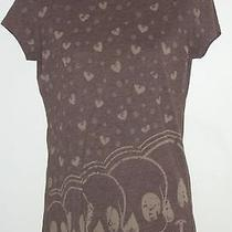 Juniors Ladies Heather Brown Billabong Skull T-Shirt Top M Medium Usa Ships Free Photo