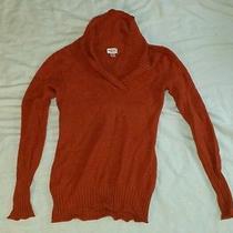 Juniors Mossimo Orange Sweater Size Large Photo