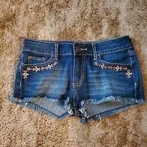 Juniors Roxy Blue Jean's Shorts W/ Design Size 3 Photo
