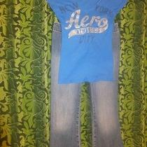Juniors Size 0 Jeans and Tee 2 Pieces (Abercrombie & Aeropostale) Photo