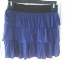 Juniors Small Purple Skirt Layered Ruffles Charlotte Russo Photo