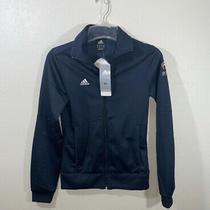 Juniors/womens Adidas Blue Jacket Sz S Zippered Pockets Photo