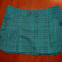 Juniors Xhiliration Aqua Plaid Mini Skirt - Size 3 Photo