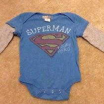 Junk Food Baby Gap Blue and Gray Layered Superman Shirt Baby Boys 3-6 Months Photo