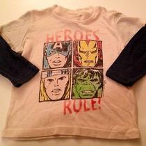 Junk Food Baby Gap Gap Kids Heroes Rule Superhero Long Sleeves Top 18-24m Photo