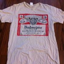 Junk Food Budweiser Medium T-Shirt Off-White Urban Outfitters Brand New Photo