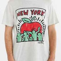 Junk Food Keith Haring New York Big Apple Raw Curved Hem Tee Urban Outfitters Xl Photo