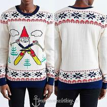 Junk Food Men's Christmas Crew Neck Gnome Sweater by Urban Outfitters Small Photo