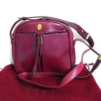 Junk Nc/nr Auth Cartier Must De Bordeaux Leather Shoulder Bag Purse Made Spain Photo
