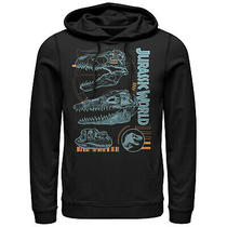 Jurassic World Fallen Kingdom Men's Fossil Skulls  Lightweight Hoodie Photo