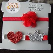 Just One You by Carter's 3pc Hair Set for Infant Girlsnew in Package Photo