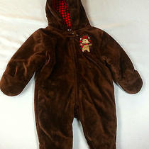 Just One You by Carter's  One Piece Teddy Bear Jumper Hooded Fleece Brown 6m Photo