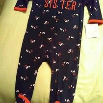 Just One You Carters Girls 6m New Little Sister One Piece Footed Pajamas  Photo