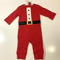 Just One You Made by Carter's Baby Long Sleeve Santa Bodysuit Long Johns Red 3m Photo