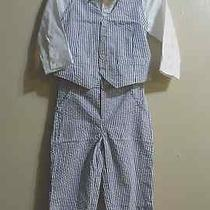 Just One You Made by Carter's Boys 3pc Vest Set White/light Blue 18m Photo