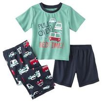 Just One You Made by Carter's Infant Toddler Boys' 3-Piece Bed Time Pajama Set Photo