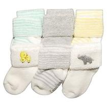 Just One Youmade by Carter's Newborn 6 Pack Terry Socks - Yellow/grey 3-12 M Photo
