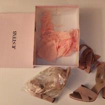 Justfab Women's Blush Wrap Around Thai High Heel Shoes Size Nine Photo