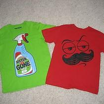 Justice Brothers the Childrens Place Sister Be Gone Mustache Shirts Boys 10 12  Photo