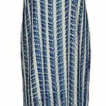 K Jordan Dress Sz L Fringe Element Sleeveless White / Navy /royal Blue Photo