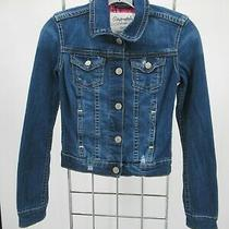 K0538 Aeropostale Women's Button Down Denim Trucker Jacket Size Xs Photo