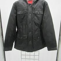 K2792 Vtg Women's Gap Button-Down Quilt-Lined Down Jacket Size S  Photo