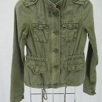 K3639 Vtg Aeropostale Women's Button-Up Denim Military Jacket Size Xs Photo