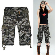 K99 Outdoor Camouflage Women's Pants Commando Military Camouflage Army Shorts Photo