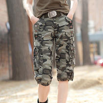 K99 Women's Commando Military Camouflage Army Green Shorts Outdoor Camouflage  Photo