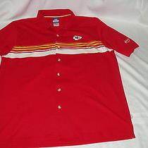 Kansas City Chiefs Mens Team Apparel Reebok Football Shirt Top Size M Photo